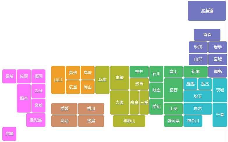日本地図表示スタイル01